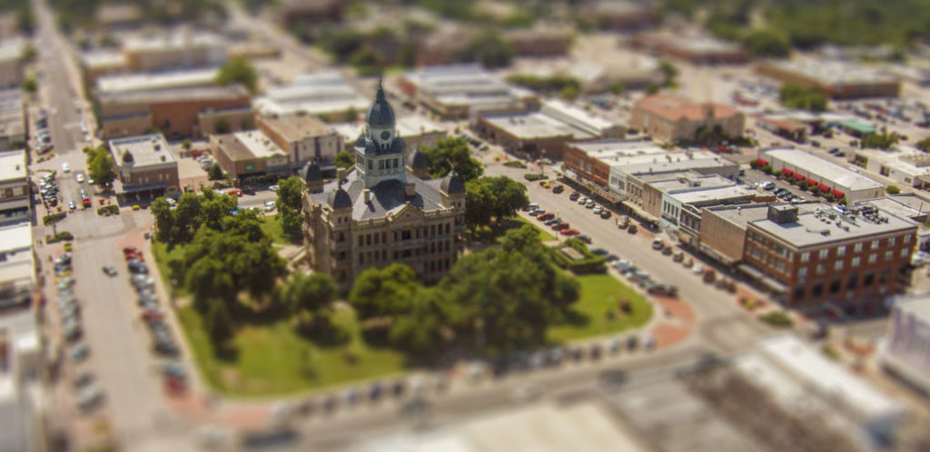 Miniature Model of Denton Courthouse on the Square